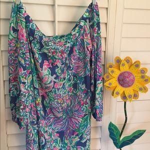 Lilly Pulitzer Adira silk Dress, XL, gently worn